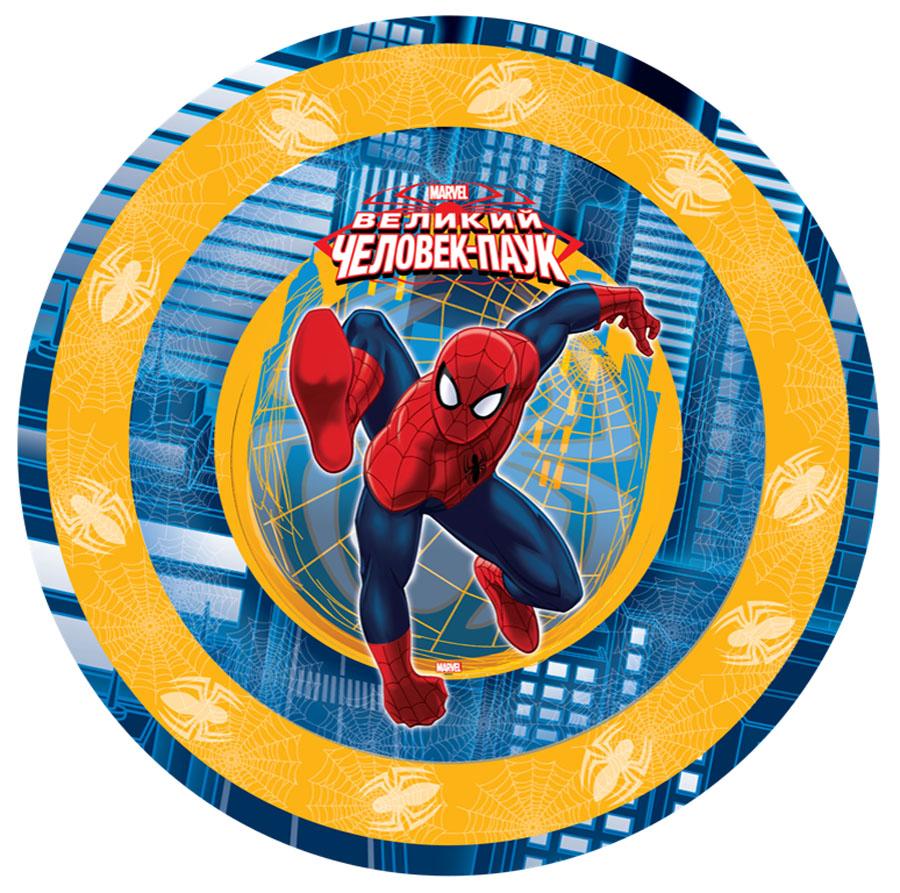 Веселая затея Тарелка Великий Человек-паук 6 шт1502-1171Большие бумажные тарелки с великим Человеком-пауком! В упаковке 6 ламинированных тарелок диаметром 23 см, глубина тарелок 1,5 см.