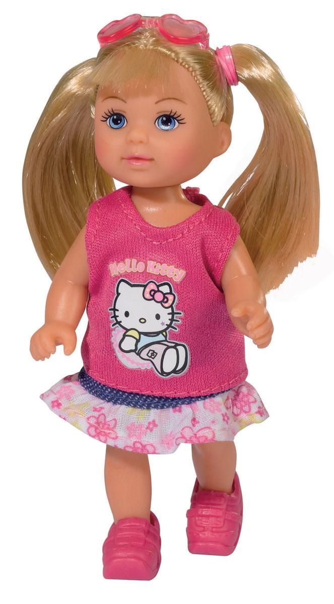 Simba Мини-кукла Hello Kitty Еви блондинка цвет платья розовый5733512_блондинка, розовыйКукла Simba Еви порадует любую девочку и надолго увлечет ее. Малышка Еви одета в розовую маечку и юбку с рюшами. На голове у куколки очки-сердечки, а на ножках розовые ботиночки. Вашей дочурке непременно понравится заплетать длинные белокурые волосы куклы, придумывая разнообразные прически. Руки, ноги и голова куклы подвижны, благодаря чему ей можно придавать разнообразные позы. Игры с куклой способствуют эмоциональному развитию, помогают формировать воображение и художественный вкус, а также разовьют в вашей малышке чувство ответственности и заботы. Великолепное качество исполнения делают эту куколку чудесным подарком к любому празднику.