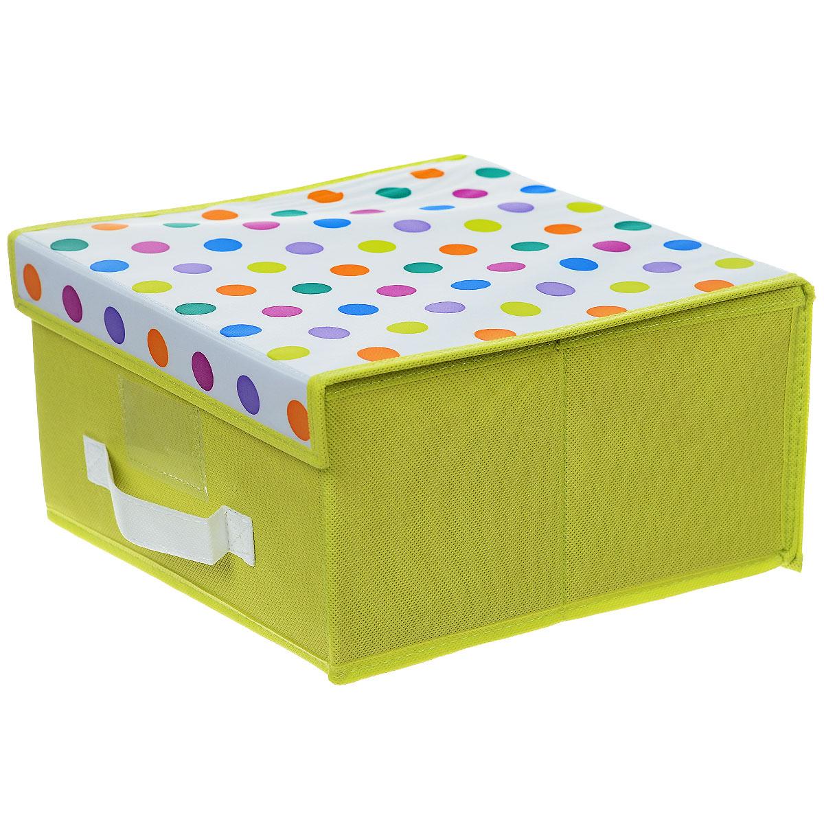 """Чехол-коробка Cosatto """"Viola. Кидс"""", цвет: салатовый, белый, 30 х 30 х 16 см"""