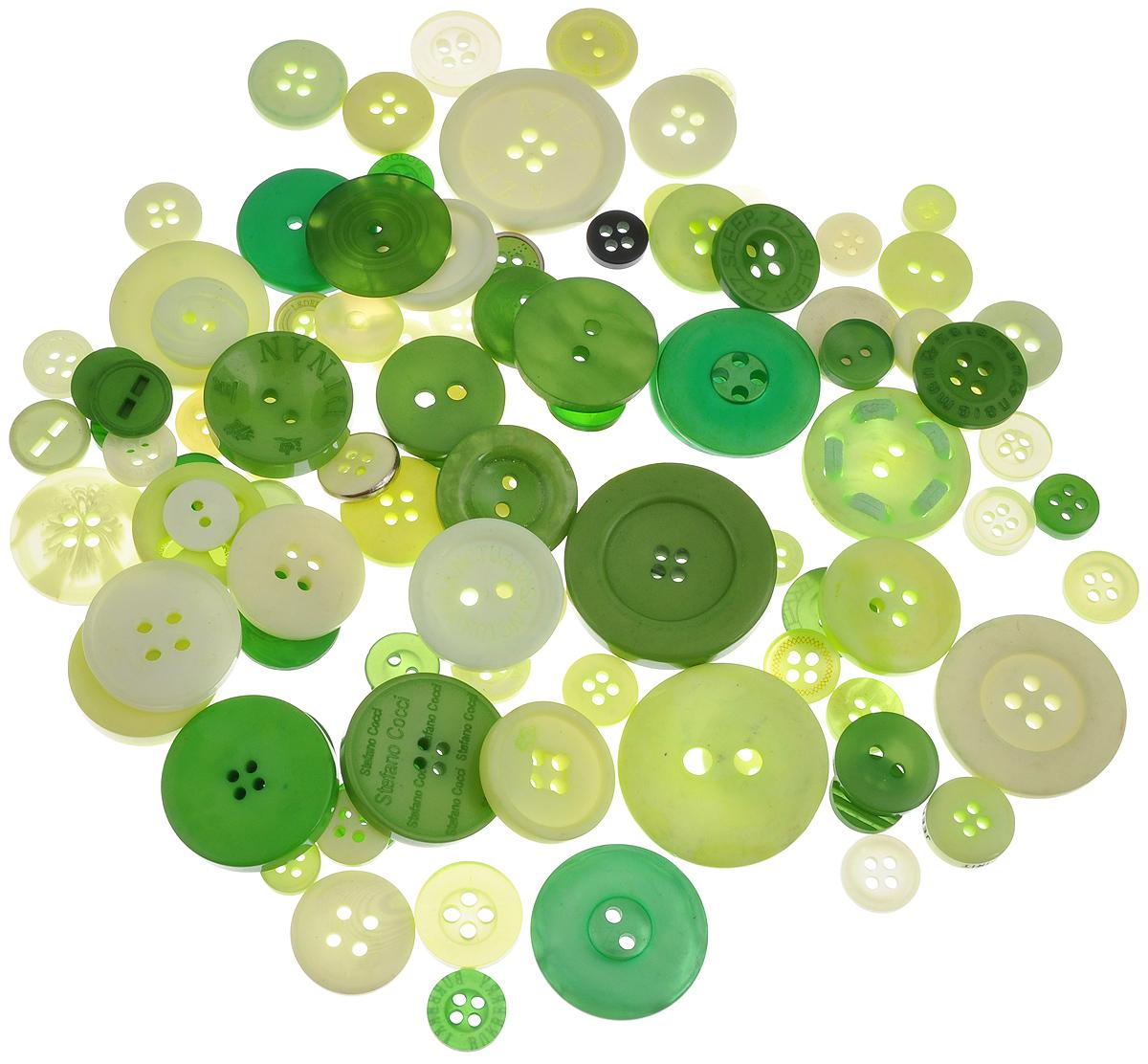 Пуговицы декоративные Buttons Galore & More Color Blends, цвет: лайм, 85 г. 77088797708879_ЛаймНабор пуговиц для творчества и декорирования одежды Buttons Galore & More Color Blends изготовлен из высококачественного пластика. В набор входят пуговицы различных размеров и с разным количеством отверстий. Такие пуговицы подходят для любых видов творчества: скрапбукинга, декорирования, шитья, изготовления кукол, а также для оформления одежды. С их помощью вы сможете украсить открытку, фотографию, альбом, подарок и другие предметы ручной работы. Пуговицы имеют оригинальный и яркий дизайн. Средний диаметр пуговиц: 2 см.