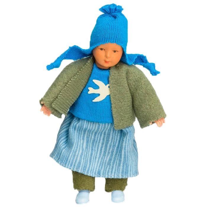 Pupsique Мини-кукла цвет одежды синий серый02-0770-03Миниатюрные куклы,выполнены вручную(hand made); все части тела подвижны, куклы одеты в дизайнерские комплекты одежды; сделаны на старейшей фабрике в Германии.