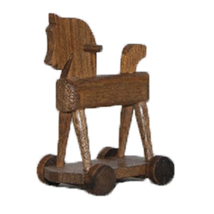 Лошадка-качалка для куклы с колесами