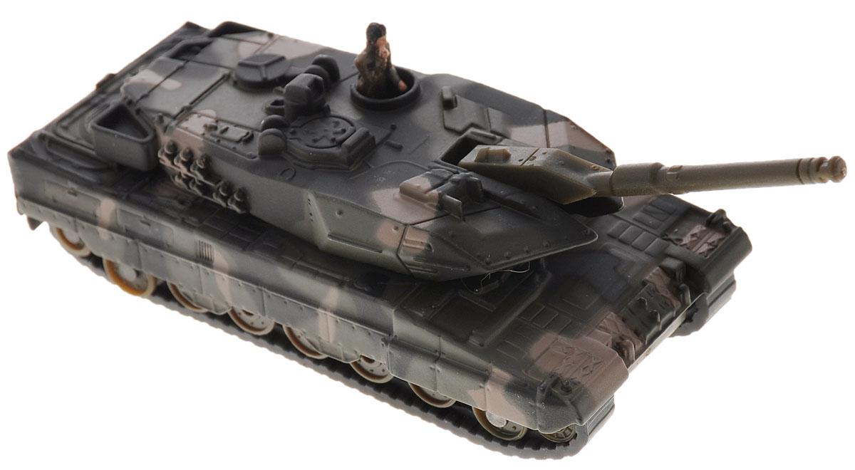Siku Танк Leopard II A61867Коллекционная модель Siku Танк выполнена в виде точной копии танка в масштабе 1/87. Такая модель понравится не только ребенку, но и взрослому коллекционеру и приятно удивит вас высочайшим качеством исполнения. Корпус и башня выполнены из металла, башня танка вращается, дуло орудия опускается и поднимается, гусеницы выполнены из резины и подвижны. В комплект входит фигурка солдата. Коллекционная модель отличается великолепным качеством исполнения и детальной проработкой, она станет не только интересной игрушкой для ребенка, интересующегося агротехникой, но и займет достойное место в коллекции.