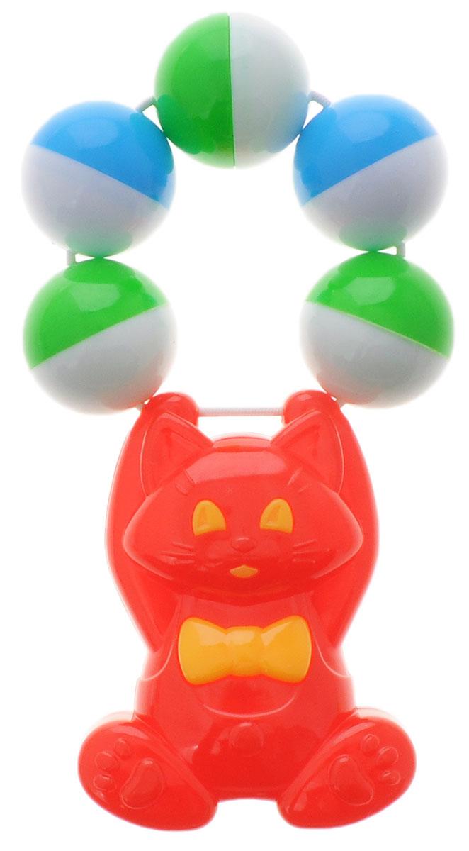 Stellar Погремушка Кошка цвет красный1539_кошка, красныйЯркая погремушка Stellar Кошка не оставит вашего малыша равнодушным и не позволит ему скучать! Игрушка представляет собой забавную кошку, держащуюся за связку разноцветных шариков, выполняющих роль погремушки. Удобная форма ручки погремушки позволит малышу с легкостью взять и держать ее. Яркие цвета направлены на развитие мыслительной деятельности, цветовосприятия, тактильных ощущений и мелкой моторики рук ребенка, а элемент погремушки способствует развитию слуха.
