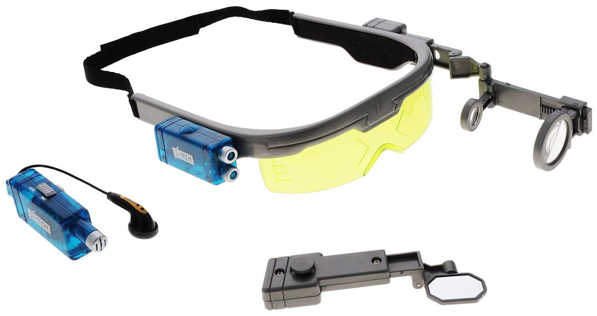 Dream Makers Игровой набор Мульти-очки шпиона1303Игрушка Очки заднего вида непременно привлечет внимание вашего малыша и не позволит ему скучать. Стильные затемненные очки сделаны специально под размер детской головы. Эти удивительные шпионские очки позволяют тебе выбрать необходимые инструменты для любой миссии. Все эти шпионские устройства взаимозаменяемые и легко крепятся на оправу очков. В наборе есть подслушивающее устройство, яркий фонарик, трехкратный телескоп и зеркало заднего вида. По желанию можно один или все сразу из этих инструментов прикрепить к очкам. Набор настоящего Супер Шпиона! Этот чудесный набор будет отличным подарком любому мальчишке. Для работы подслушивающего устройства необходима 1 батарейка типа LR44 (комплектуется демонстрационными). Для работы фонарика необходимо 3 батарейки типа LR43 (комплектуется демонстрационными).