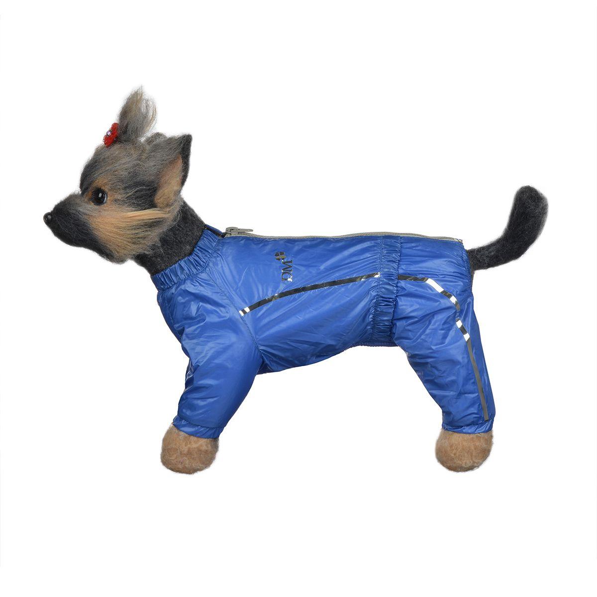 Комбинезон для собак Dogmoda Альпы, для мальчика, цвет: синий. Размер 1 (S)DM-150329-1Комбинезон для собак Dogmoda Альпы отлично подойдет для прогулок поздней осенью или ранней весной. Комбинезон изготовлен из полиэстера, защищающего от ветра и осадков, с подкладкой из флиса, которая сохранит тепло и обеспечит отличный воздухообмен. Комбинезон застегивается на молнию и липучку, благодаря чему его легко надевать и снимать. Ворот, низ рукавов и брючин оснащены внутренними резинками, которые мягко обхватывают шею и лапки, не позволяя просачиваться холодному воздуху. На пояснице имеется внутренняя резинка. Изделие декорировано серебристыми полосками и надписью DM. Благодаря такому комбинезону простуда не грозит вашему питомцу и он не даст любимцу продрогнуть на прогулке.