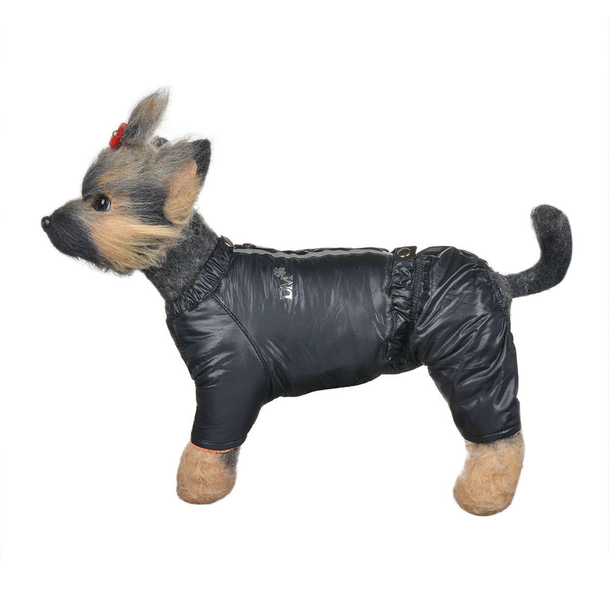 Костюм для собак Dogmoda Дублин, зимний, для мальчика, цвет: черный, оранжевый. Размер 1 (S)DM-150344-1Зимний костюм для собак Dogmoda Дублин отлично подойдет для прогулок в зимнее время года. Костюм состоит из куртки и брюк на лямках, которые изготовлены из полиэстера, защищающего от ветра и снега, с утеплителем из синтепона, который сохранит тепло даже в сильные морозы, а на подкладке используется искусственный мех, который обеспечивает отличный воздухообмен. Куртка застегивается на молнию и кнопки. На молнии имеются светоотражающие элементы. Ворот и низ изделия оснащены внутренними резинками, которые мягко обхватывают тело, не позволяя просачиваться холодному воздуху. Куртка декорирована золотистой надписью DM. Эластичные лямки брюк имеют перфорацию. Их длина регулируется при помощи пуговиц. Брюки застегиваются на кнопки и имеют на пояснице внутреннюю резинку, которая не позволит просачиваться холодному воздуху. Изделие декорировано золотистой надписью DM. Благодаря такому костюму простуда не грозит вашему питомцу.