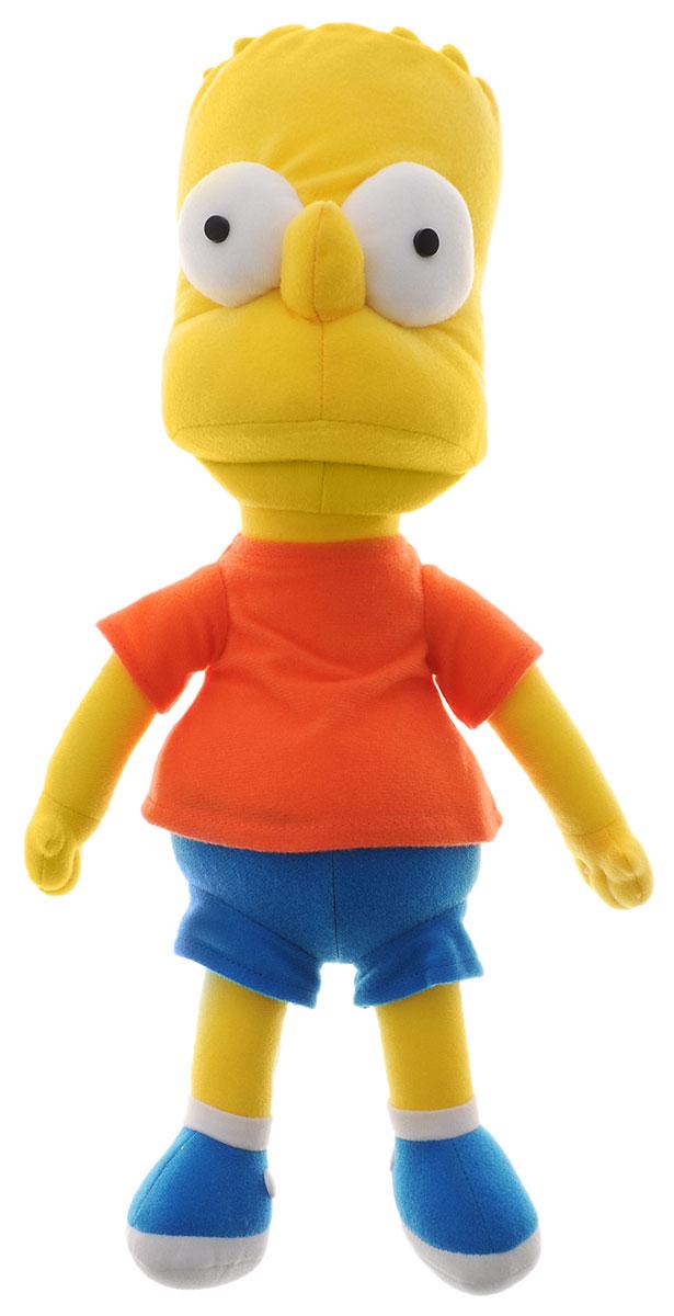 Simpsons Мягкая игрушка Барт Симпсон цвет желтый синий морковный 37 смSBL1Мягкая игрушка Simpsons Барт подарит вашему ребенку много радости и веселья. Изготовлена игрушка из прочных и безопасных для ребенка материалов. Удивительно приятная на ощупь игрушка выполнена в виде Барта Симпсона, персонажа культового мультфильма Симпсоны. Одет Барт в футболку, шорты и ботинки. Он непоседлив, циничен, эгоистичен, в то же время наивен, иногда проявляет и хорошие стороны своей личности, такие как доброта, сочувствие. Его интересы: катание на скейте, просмотр шоу клоуна Красти, комиксы, видеоигры, хулиганские выходки. Чудесная мягкая игрушка непременно поднимет настроение своему поклоннику и станет замечательным подарком к любому празднику.