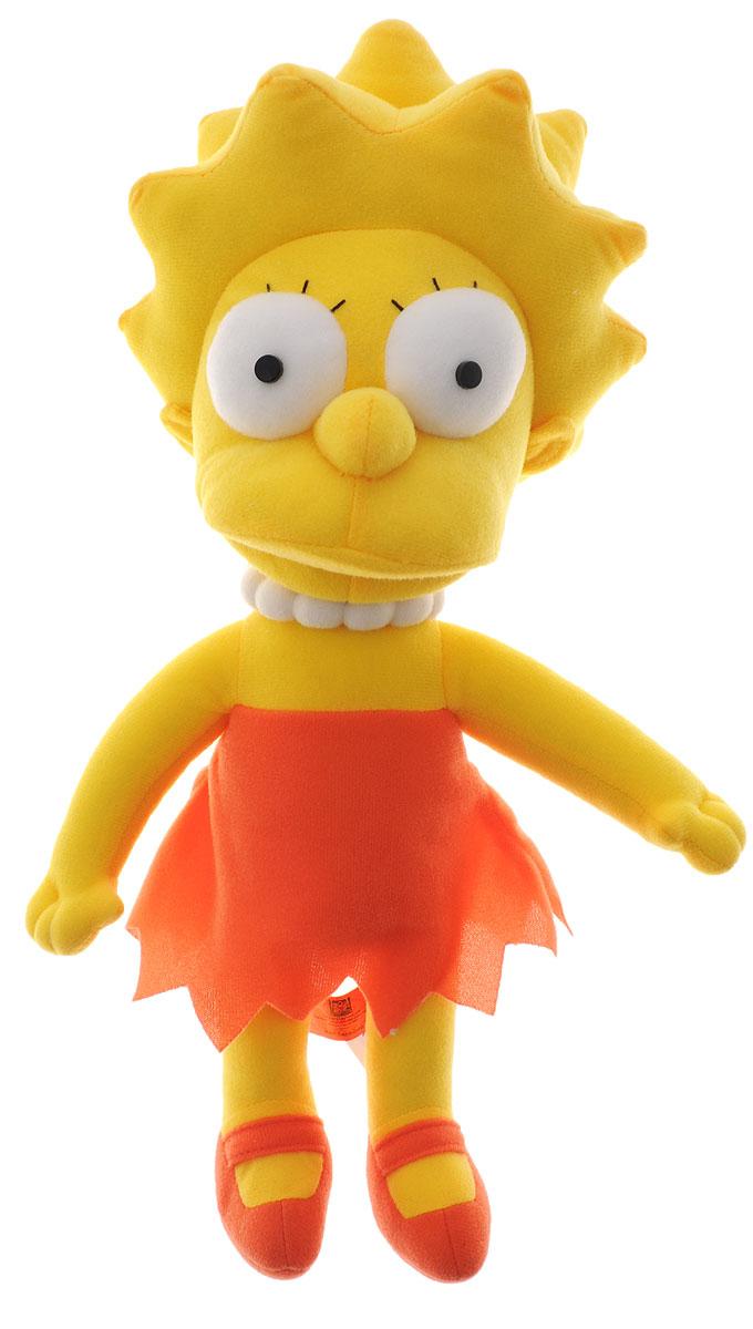 Simpsons Мягкая игрушка Лиза Симпсон цвет желтый морковный 36 смSLS1Мягкая игрушка Simpsons Лиза подарит вашему ребенку много радости и веселья. Игрушка изготовлена из прочных и безопасных для ребенка материалов. Удивительно приятная на ощупь игрушка выполнена в виде Лизы Симпсон, персонажа культового мультфильма Симпсоны. Лиза средний ребенок в семье, восьмилетняя девочка, выделяющаяся среди остальных Симпсонов прежде всего своим умом и рассудительностью. Одета в платье и балетки морковного цвета, а на шее у нее ожерелье белого цвета. Чудесная мягкая игрушка непременно поднимет настроение своему поклоннику и станет замечательным подарком к любому празднику.