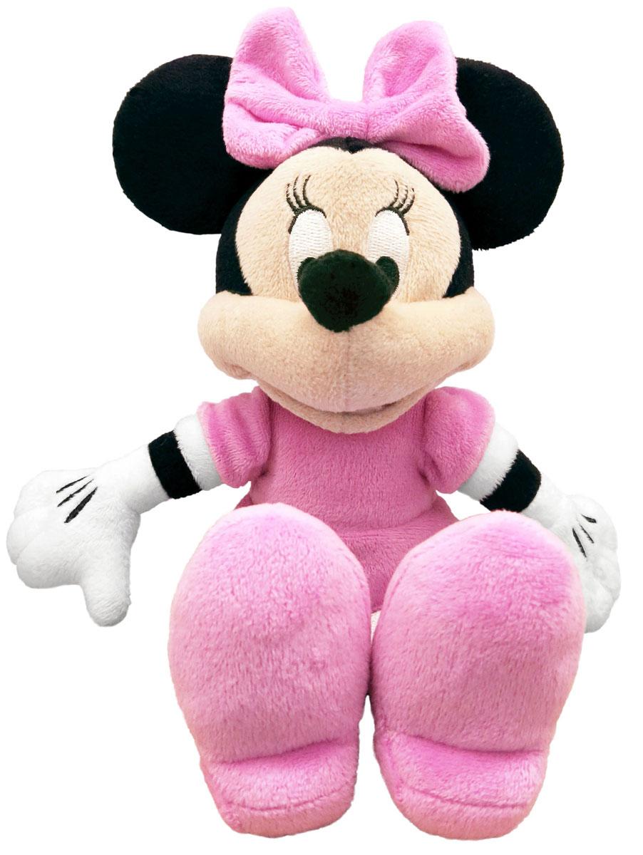 Disney Мягкая игрушка Минни Маус 25 см10468Мягкая игрушка Disney Минни Маус станет чудесным подарком для вашего ребенка к любому празднику! Она выполнена из приятного на ощупь текстильного материала. Приветливая модница Минни Маус любит веселье и обожает музыку, а также знает себе цену. На Минни надето прекрасное розовое платье и бантик. Специальные гранулы, используемые при набивке, способствуют развитию мелкой моторики рук. Такая игрушка подарит своей обладательнице хорошее настроение и не позволит ей скучать!