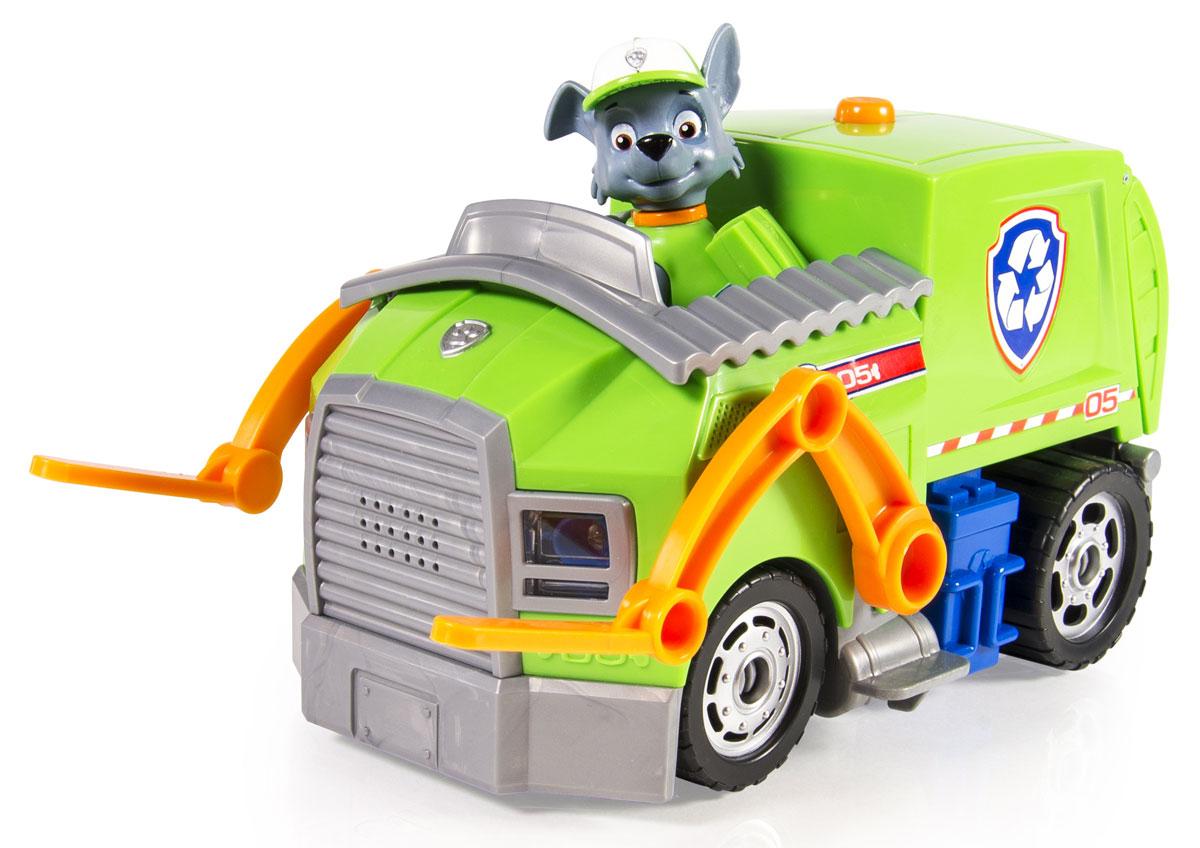 Paw Patrol Большой автомобиль спасателей Rocky16637Неугомонный энтузиаст Рокки из команды спасателей Щенячьего патруля и его замечательный автомобиль-погрузчик со звуковыми и световыми эффектами - то, что нужно любому поклоннику популярного детского сериала о приключениях щенков-спасателей! Рокки - борец за чистоту и экологию, его перерабатывающая мусор машина оснащена подвижным погрузчиком. В комплект набора входит небольшая фигурка Рокки! Рекомендуется докупить 2 батарейки напряжением 1,5V типа ААА (товар комплектуется демонстрационными).