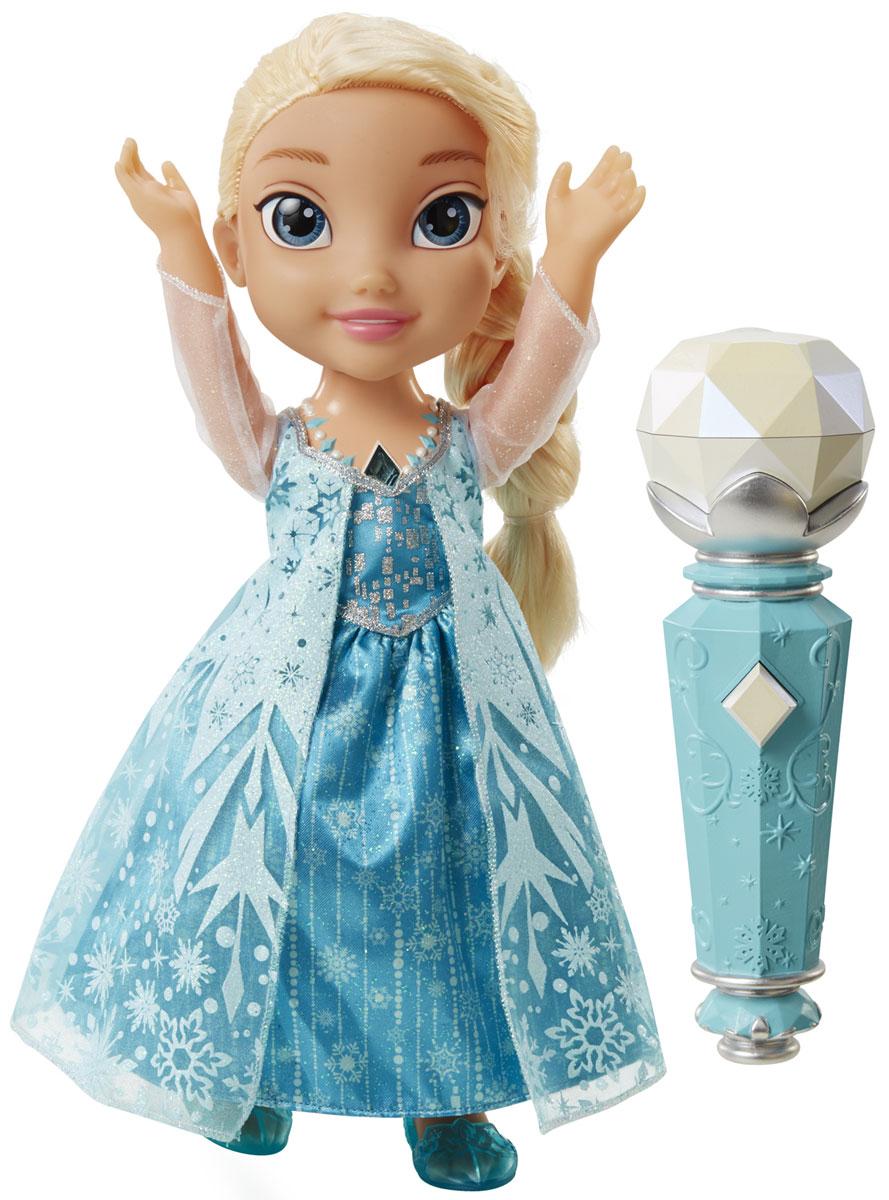 Кукла Эльза Холодное Сердце Принцессы Дисней, поющая с микрофоном310780Теперь каждый сможет спеть с принцессой Эльзой, любимой героиней из мультфильма Холодное Сердце! Дотроньтесь до волшебного амулета, поднесите микрофон ко рту куклы. Кукла начнет исполнять песню, а ребенок сможет в любой момент поднести микрофон к своему рту и продолжить петь, не прерывая исполнение песни. Эльза будет запоминать строчку, на которой остановились вы, и продолжать мелодию за вами. Во время исполнения песни некоторые элементы одежды куклы будут мигать и переливаться, создавая по-настоящему сказочное настроение. Так, попеременно произнося слова из песни Отпусти и Забудь, можно спеть дуэтом с интерактивной куклой. Чтобы включить режим пения дуэтом, нажмите на драгоценный камень в ожерелье Эльзы или поместите микрофон около ее рта. Эльза начнет петь, а её платье будет светиться. Всякий раз, когда микрофон оказывается возле рта Эльзы, она будет петь. При отведении микрофона от Эльзы воспроизводится только фоновая мелодия. Если вы хотите спеть, нажмите кнопку...