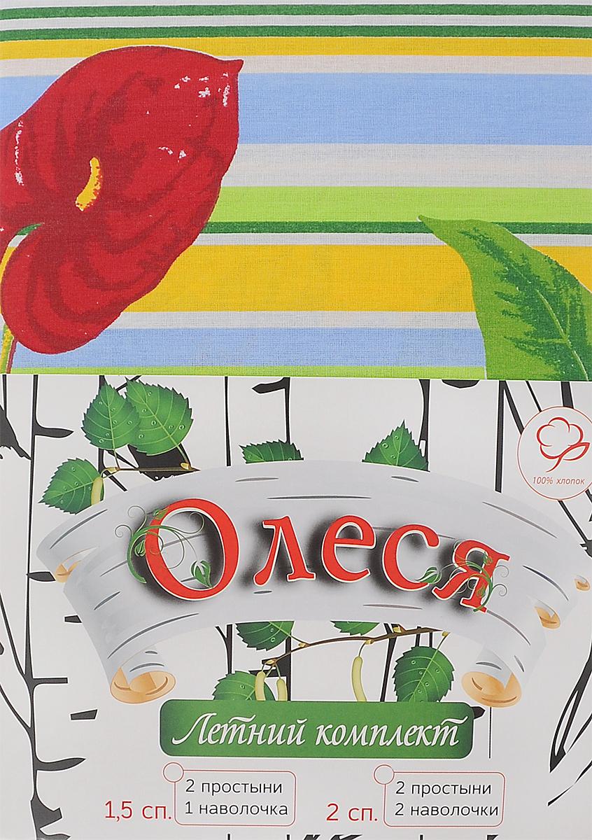 Комплект белья Олеся Летний комплект. Лилии и каллы, 2-спальный, наволочки 70х70, цвет: зеленый, красный. желтый2050115956_зеленый, голубойПостельное белье Олеся Летний комплект. Лилии и каллы, оформленное изображением цветов, красиво дополнит интерьер спальни и подарит незабываемое чувство комфорта и уюта во время сна. Комплект выполнен из бязи (100% хлопок). Эта ткань отличается высокой воздухопроницаемостью и мягкостью, но в то же время она очень прочна и устойчива к истиранию. Приятная на ощупь бязь идеально подходит для комфортного и спокойного сна, а благодаря долговечности такое белье выдержит многочисленные стирки без потери качества.