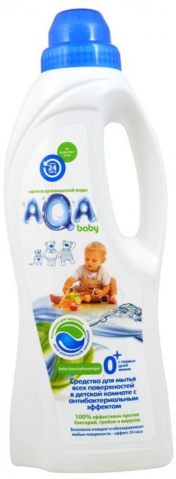 AQA baby Средство для мытья всех поверхностей в детской комнате, с антибактериальным эффектом, 1 л009511Средство для мытья всех поверхностей в детской комнате AQA Baby с антибактериальным эффектом. Инновация в области безопасных средств для уборки в детской комнате: очищает и обеззараживает: любые поверхности в детской комнате и во всем доме, в том числе напольные покрытия, ковры, мебель, горшки и т.д.; устраняет неприятные запахи, разрушая их, а не маскируя; без хлора, красителей и оптических осветлителей; безопасно для малыша и мамы, домашних питомцев и окружающей среды: - не остается на поверхностях - на основе возобновляемого природного сырья. Эффект 24 часа: - Бактерицидный: удаляет вредные бактерии (эффективен как против грам-положительных, так и грам-отрицательных бактерий). - Антибактериальный: блокирует рост и размножение микроорганизмов (в том числе грибов) Не оказывает разрушающего влияния на обрабатываемые поверхности. Не сушит кожу рук. Подходит для различных поверхностей, в том числе: ПВХ, дерево,...