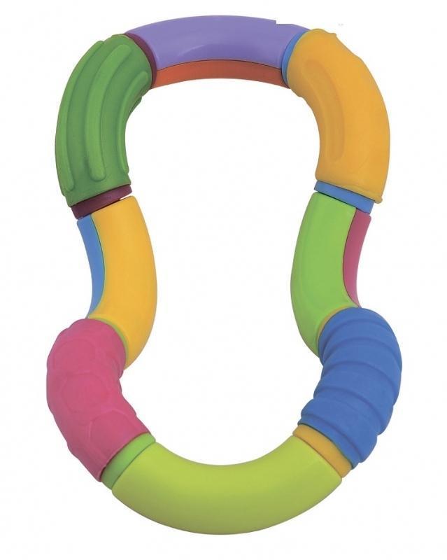 Mioshi Прорезыватель Волшебный твистTY-9059Игрушка-прорезыватель Волшебный твист выполнена из разноцветных гибких пластиковых и резиновых элементов в виде восьмерки. Ваш малыш сможет игрушку сжимать, кусать и скручивать, создавая различные конфигурации. Резиновые вставки на игрушке помогут ребенку снять неприятные ощущения в период прорезывания зубов. Игрушка-прорезыватель способствует развитию цветовосприятия, тактильных ощущений и мелкой моторики рук.