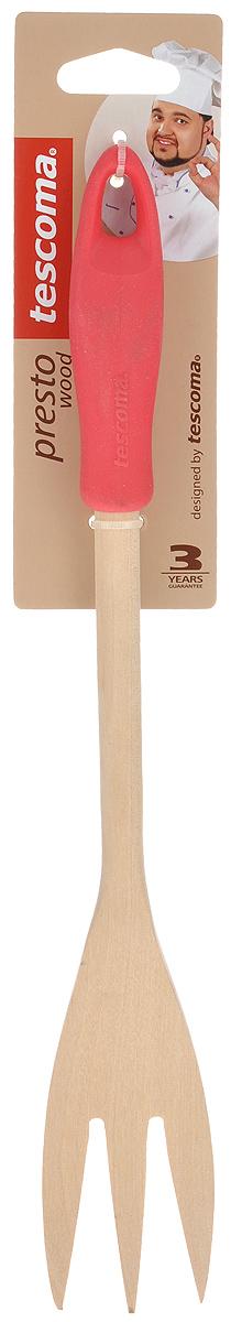 Вилка для мяса Tescoma Presto Wood, цвет: красный, длина 30 см637248_красныйВилка для мяса Tescoma Presto Wood изготовлена из экологически чистого материала - качественной березовой древесины, обладающей уникальной текстурой. Элегантная ручка имеет противоскользящую обработку, что дает возможность удобно и комфортно пользоваться вилкой. Такая кухонная принадлежность подходит для всех видов посуды, а также замечательна для посуды с антипригарным покрытием. Вилка для мяса Tescoma Presto Wood станет вашим незаменимым помощником на кухне, а также это практичный и необходимый подарок любой хозяйке! Размер рабочей поверхности: 4,5 см х 9 см. Общая длина вилки: 30 см.