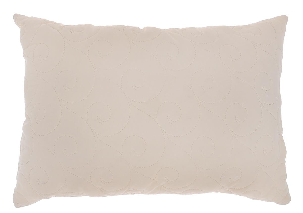 Подушка Подушкино Зима-Лето, наполнитель: шерсть, бамбук, цвет: белый, бежевый, 50 х 72 см111934210-106Двусторонняя подушка Подушкино Зима-Лето создаст комфорт и уют во время сна в любое время года. Чехол выполнен из биософта, а внутри подушки с одной стороны наполнение из волокна бамбука, а с другой - шерсть верблюда. Бамбук является природным антисептиком, обладающим бактерицидным и дезодорирующим свойствами. Пористая структура бамбукового волокна способствует процессу воздухообмена, сохраняет прохладу и регулирует теплообмен. Верблюжья шерсть обладает высокой воздухопроницаемостью, гипоаллергенна, снимает статическое напряжение и сохраняет форму долгое время. Размер подушки: 50 см х 72 см. Состав чехла: биософт (100% полиэстер). Наполнитель: внешний - шерсть, бамбук; внутренний - экофайбер (100% полиэстер).
