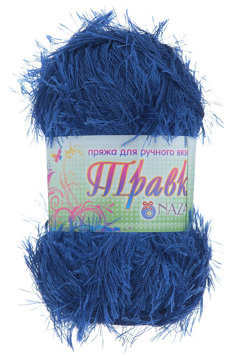 Пряжа для вязания Nazar Травка, цвет: синий (2007), 150 м, 100 г, 5 шт349001_2007Пряжа для вязания Nazar Травка изготовлена из 100% полиэстера. Это - пряжа с ворсом. Изделия выглядят как меховые, на ощупь очень мягкие и шелковистые. Полотно выглядит пушистым с обеих сторон. Из такой пряжи великолепно получаются коврики и пледы, чехлы для мебели, декоративные наволочки и игрушки, шарфы и палантины. Подходит для вязания на спицах и крючках 4 мм. Состав: 100% полиэстер. Толщина нити: 1,5 мм.