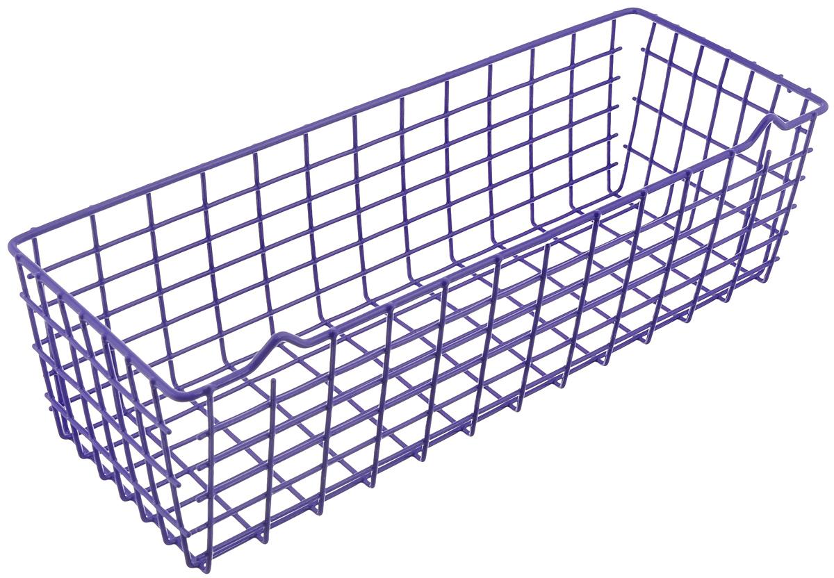 Полка универсальная Metaltex Pandino, цвет: фиолетовый, 33 х 12 х 9 см36.17.00/94-513_фиолетовыйУниверсальная полка Metaltex Pandino изготовлена из стали, покрытой полимерным, влагостойким материалом. Выполнена в виде небольшой корзинки. Такая полка сэкономит место на вашей кухне или в ванной. Современный дизайн делает ее не только практичным, но и стильным домашним аксессуаром. Полка пригодится для хранения различных кухонных или других принадлежностей, которые всегда будут под рукой.
