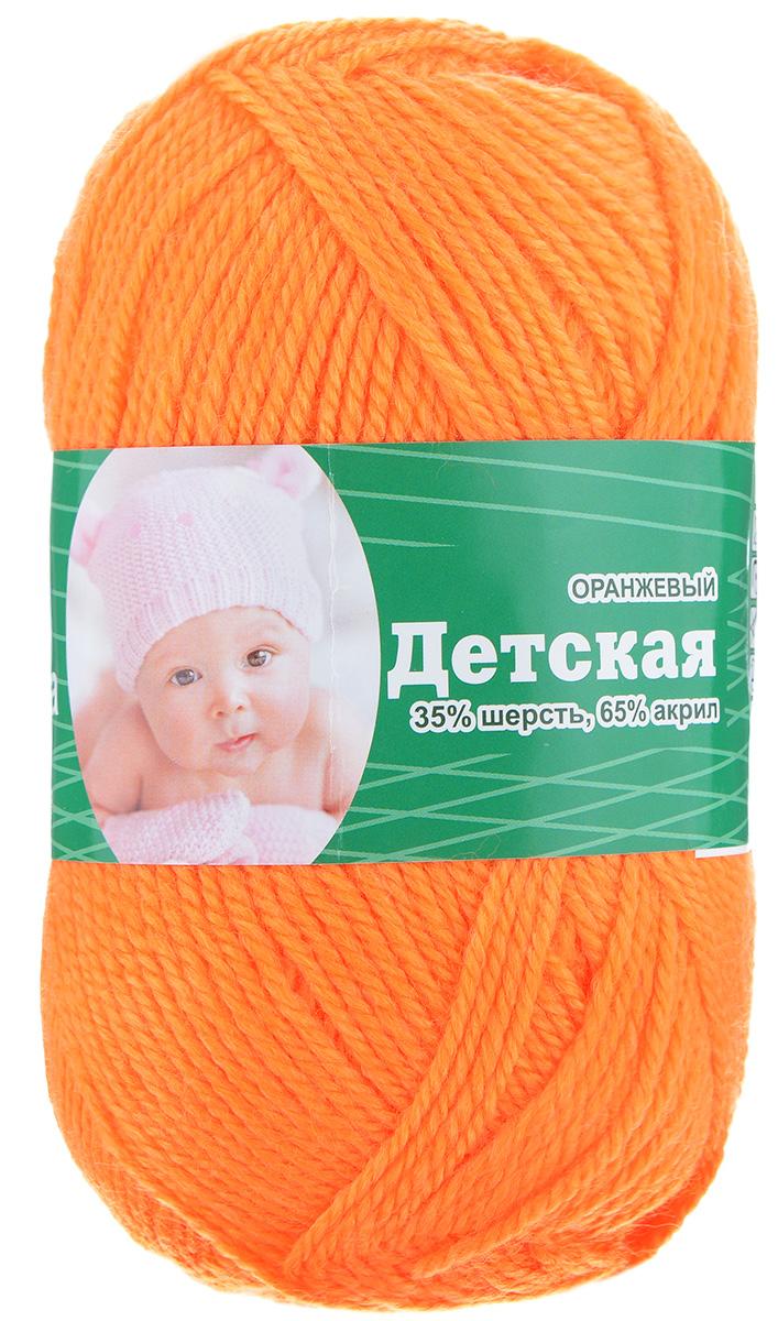 Пряжа для вязания Астра Baby, цвет: оранжевый, 150 м, 50 г, 4 шт488346_оранжевыйДетская пряжа для вязания Астра Детская изготовлена из акрила с добавлением шерсти. Изделия из этой пряжи предназначены для ручной стирки. Рекомендованный размер спиц: 2-4. Рекомендованный размер крючка: 2-4. Состав: 35% шерсть; 65% акрил.