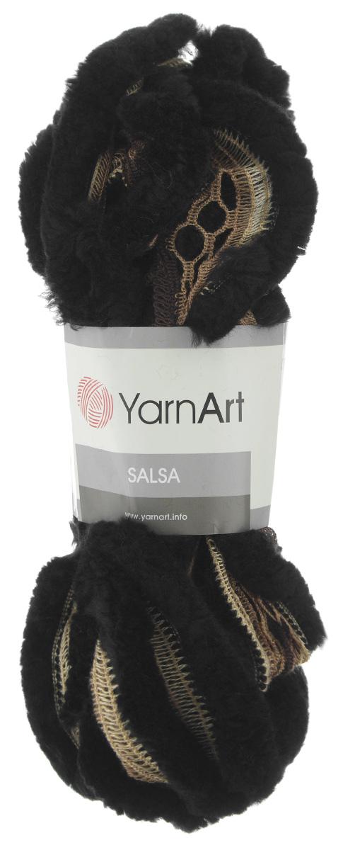 Пряжа для вязания YarnArt Salsa, цвет: черный, коричневый (250), 7 м, 125 г, 4 шт694748_250Пряжа для вязания YarnArt Salsa - фантазийная ленточная пряжа, в состав которой входит акрил. Пряжа представляет собой широкую ленту с меховым краем с одной стороны. Прекрасно подойдет для вязания шарфов, аксессуаров, а также для отделки изделий. С такой пряжей вы можете быстро и не дорого сделать подарок своими руками для родных и близких людей. Рекомендованы спицы 8 мм. Состав: 100% акрил. Комплектация: 4 мотка.