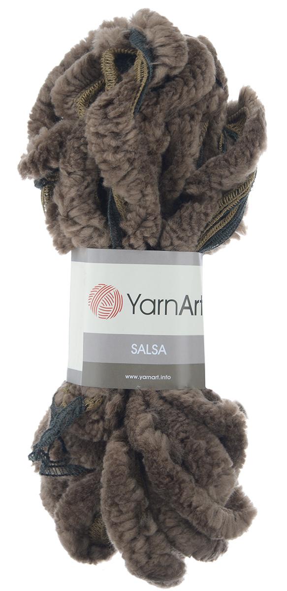Пряжа для вязания YarnArt Salsa, цвет: темное какао, черный (23315), 7 м, 125 г, 4 шт694748_23315Пряжа для вязания YarnArt Salsa - фантазийная ленточная пряжа, в состав которой входит акрил. Пряжа представляет собой широкую ленту с меховым краем с одной стороны. Прекрасно подойдет для вязания шарфов, аксессуаров, а также для отделки изделий. С такой пряжей вы можете быстро и не дорого сделать подарок своими руками для родных и близких людей. Рекомендованы спицы 8 мм. Состав: 100% акрил. Комплектация: 4 мотка.