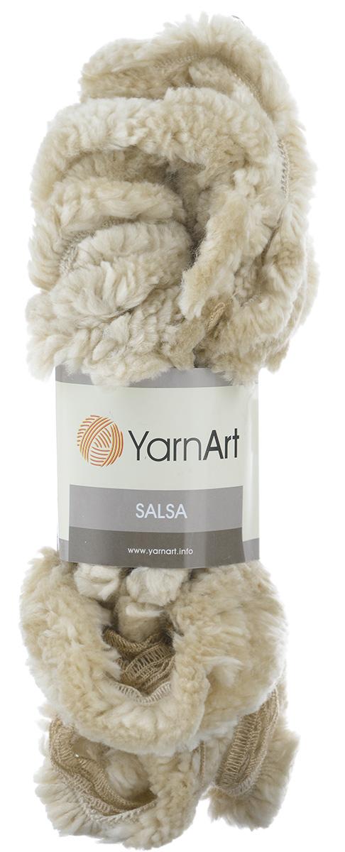 Пряжа для вязания YarnArt Salsa, цвет: топленое молоко, бежевый (255), 7 м, 125 г, 4 шт694748_255Пряжа для вязания YarnArt Salsa - фантазийная ленточная пряжа, в состав которой входит акрил. Пряжа представляет собой широкую ленту с меховым краем с одной стороны. Прекрасно подойдет для вязания шарфов, аксессуаров, а также для отделки изделий. С такой пряжей вы можете быстро и не дорого сделать подарок своими руками для родных и близких людей. Рекомендованы спицы 8 мм. Состав: 100% акрил. Комплектация: 4 мотка.
