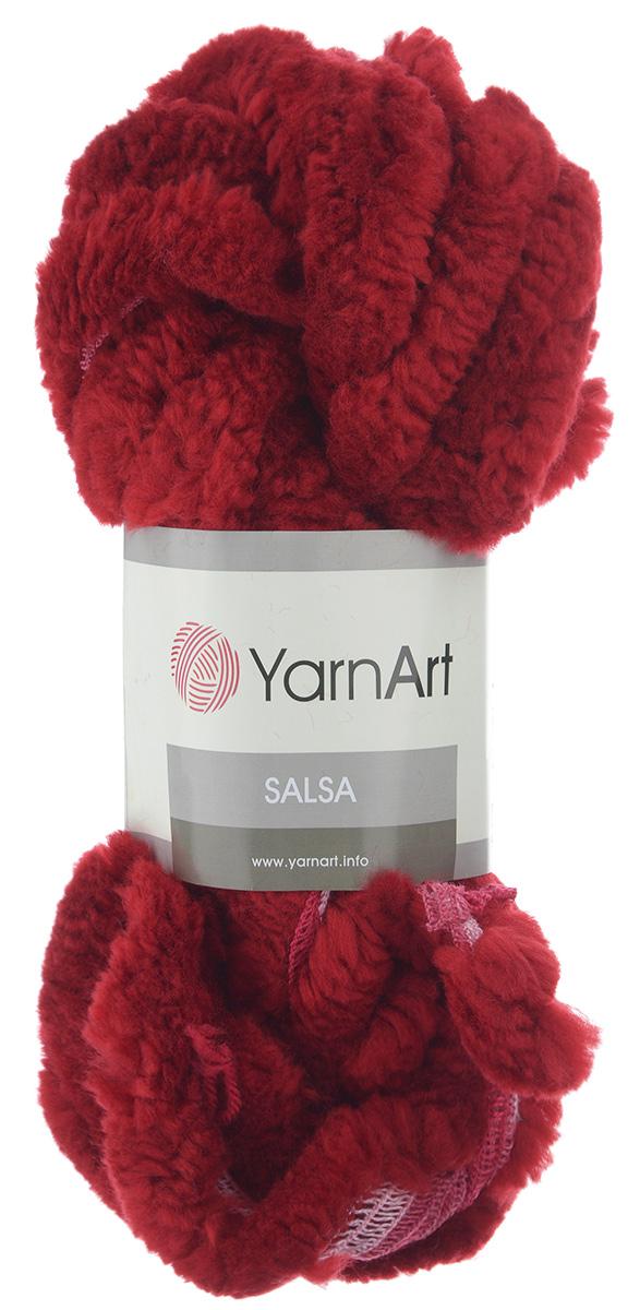Пряжа для вязания YarnArt Salsa, цвет: темно-красный, розовый (257), 7 м, 125 г, 4 шт694748_257Пряжа для вязания YarnArt Salsa - фантазийная ленточная пряжа, в состав которой входит акрил. Пряжа представляет собой широкую ленту с меховым краем с одной стороны. Прекрасно подойдет для вязания шарфов, аксессуаров, а также для отделки изделий. С такой пряжей вы можете быстро и не дорого сделать подарок своими руками для родных и близких людей. Рекомендованы спицы 8 мм. Состав: 100% акрил. Комплектация: 4 мотка.