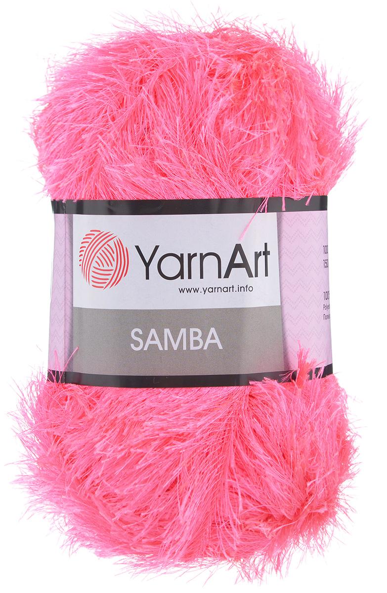 Пряжа для вязания YarnArt Samba, цвет: розовый (08), 150 м, 100 г, 5 шт372009_08Пряжа YarnArt Samba, изготовленная из 100% полиэстера, представляет собой яркий пример отделочной нити, с помощью которой можно придать оригинальность и красоту каждому изделию. Нить удобна тем, что подлежит работе и крючком, и спицами. Пряжа YarnArt Samba не требует особых изысков в выборе узора - пушистый ворс нитки делает привлекательным даже обыкновенную гладь. Нить скрученная, средней толщины, послушна в работе, удобно скользит. Состав: 100% полиэстер. Комплектация: 5 мотков. Рекомендованы для вязания спицы № 5,5, крючок № 5,5.