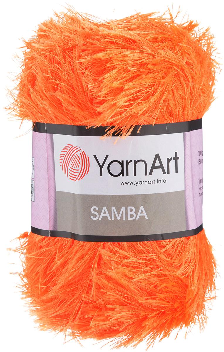 Пряжа для вязания YarnArt Samba, цвет: апельсиновый (07), 150 м, 100 г, 5 шт372009_07Пряжа YarnArt Samba, изготовленная из 100% полиэстера, представляет собой яркий пример отделочной нити, с помощью которой можно придать оригинальность и красоту каждому изделию. Нить удобна тем, что подлежит работе и крючком, и спицами. Пряжа YarnArt Samba не требует особых изысков в выборе узора - пушистый ворс нитки делает привлекательным даже обыкновенную гладь. Нить скрученная, средней толщины, послушна в работе, удобно скользит. Состав: 100% полиэстер. Комплектация: 5 мотков. Рекомендованы для вязания спицы № 5,5, крючок № 5,5.