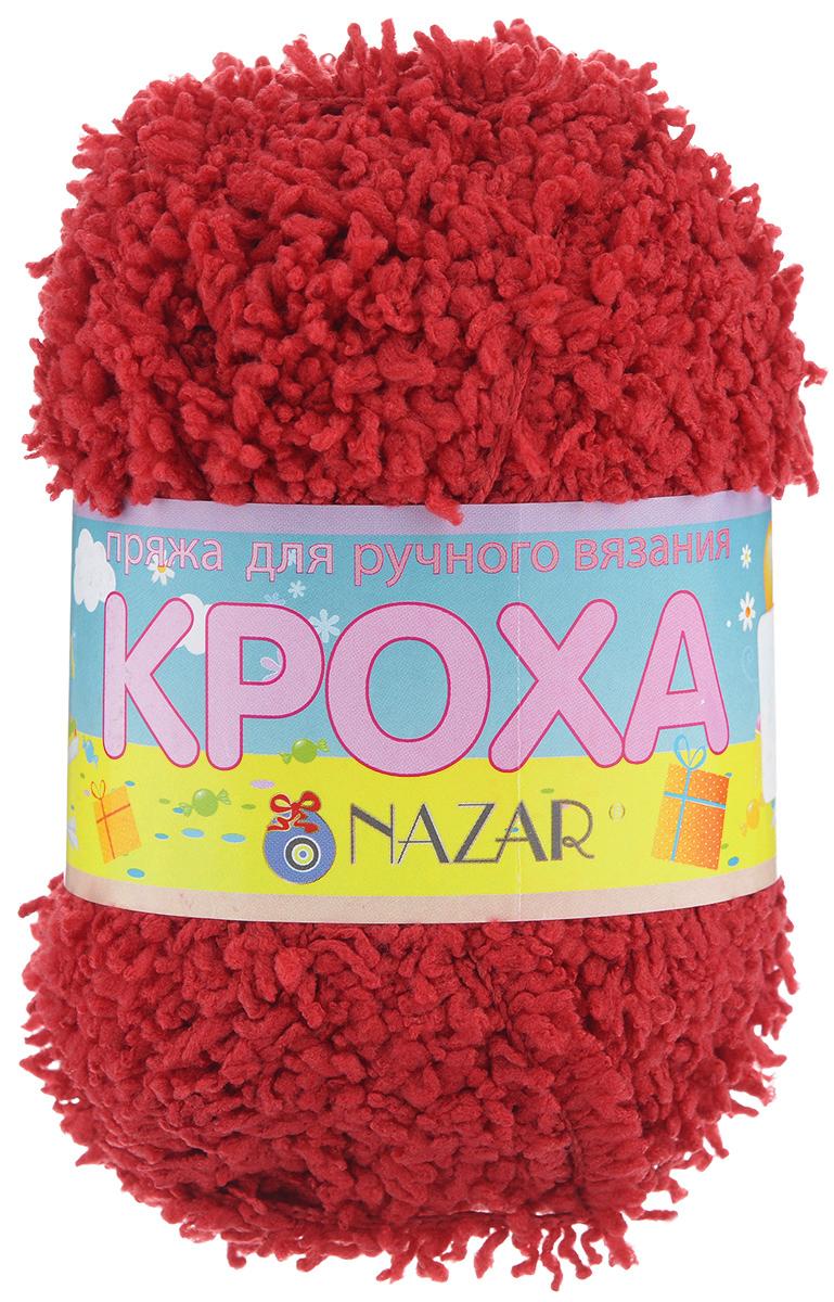 Пряжа для вязания детская Nazar Кроха, цвет: красный (6001), 75 м, 50 г, 10 шт349017_6001Nazar Кроха - это фантастически мягкая пряжа, изготовленная из 100% микрополиэстера. Такая пряжа идеально подойдет для изготовления игрушек или детской одежды. Изделия практичны в носке и уходе. Рекомендуется вязать спицами платочной или чулочной вязкой (кулинарная гладь). Комплектация: 10 мотков. Состав: 100% микрополиэстер.