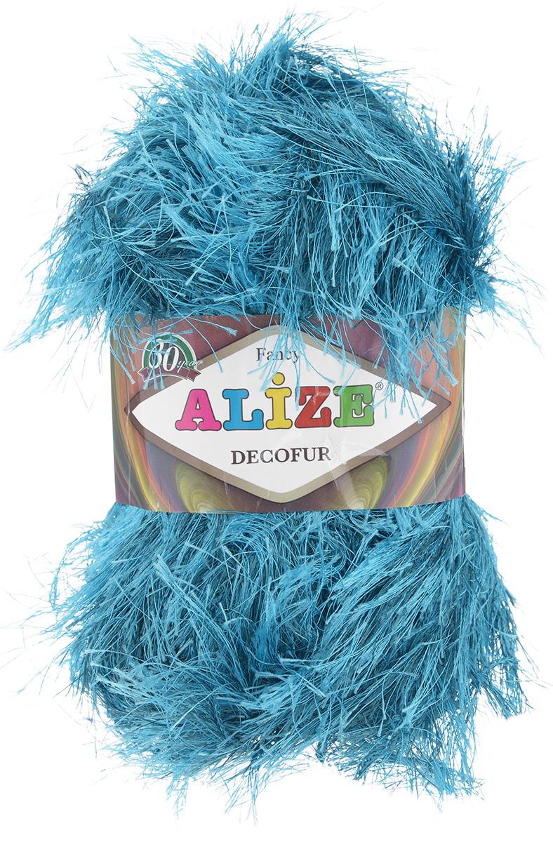 Пряжа для вязания Alize Decofur, цвет: бирюзовый (1375), 110 м, 100 г, 5 шт364128_1375Пряжа Decofur изготовлена из высококачественного полиэстера. Пряжа - травка используется как для вязания самостоятельных пушистых изделий, так и для отделки. Это могут быть нарядные кофточки, куртки, накидки, шарфы, шапки, шали, предметы домашнего интерьера, игрушки и многое другое. Рекомендованные спицы для вязания: 6-8 мм. Рекомендованный крючок для вязания: 3-4 мм. Комплектация: 5 шт. Состав: 100% полиэстер.