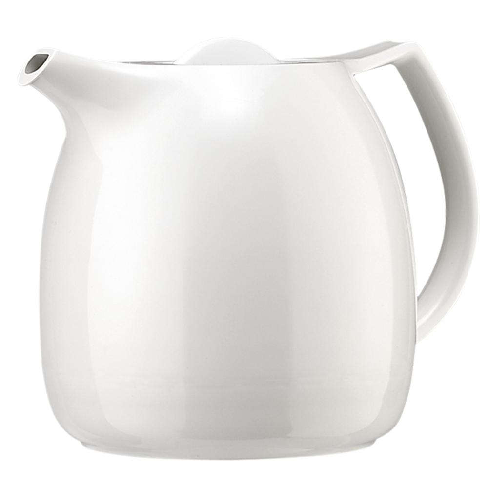 Термос-чайник Emsa Ellipse, с ситечком, цвет: белый, 600 мл503696Удобный термос-чайник Emsa Ellipse прекрасно подходит для заваривания чая и различных травяных настоев. Корпус изделия выполнен из высококачественного белого пластика под фарфор, а внутренняя колба - из стекла. Изделие оснащено удобным носиком, который поможет аккуратно разлить содержимое по стаканам, а также ручкой эргономичной формы. Термочайник позволит легко и быстро заварить насыщенный и ароматный чай, а ситечко для заварки не даст попасть в напиток листочкам и кусочкам фруктов. Поворотная крышка быстро, легко и герметично закрывается, сохраняя температуру напитку. Диаметр (по верхнему краю): 8,5 см. Диаметр горлышка: 7 см. Диаметр дна: 11,5 см. Высота ситечка: 8,5 см. Высота термоса: 16 см.