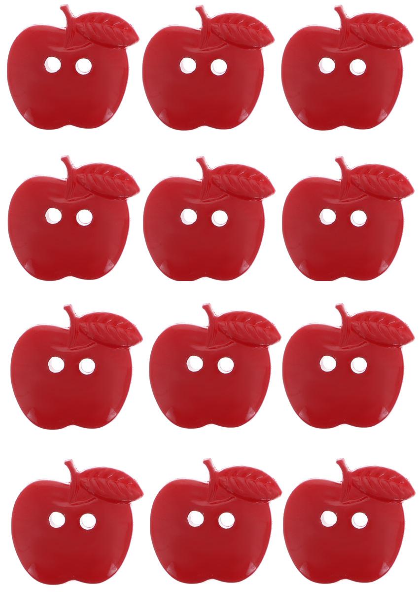 Пуговицы декоративные Dress It Up Яблочки, 12 шт7712045Набор Dress It Up Яблочки состоит из 12 декоративных пуговиц, выполненных из высококачественного пластика в виде яблок. Такие пуговицы подходят для любых видов творчества: скрапбукинга, декорирования, шитья, изготовления кукол, а также для оформления одежды. С их помощью вы сможете украсить открытку, фотографию, альбом, подарок и другие предметы ручной работы. Все пуговицы в наборе имеют оригинальный и яркий дизайн. Средний размер пуговиц: 1,5 см х 1,5 см х 0,5 см.