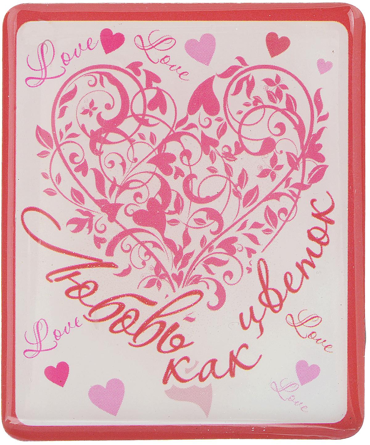 Магнит Феникс-презент Любовь как цветок, 4,5 x 5,5 см27188Магнит прямоугольной формы Феникс-презент Любовь как цветок, выполненный из агломерированного феррита, станет приятным штрихом в повседневной жизни. Оригинальный магнит, декорированный изображением сердец, поможет вам украсить не только холодильник, но и любую другую магнитную поверхность. Материал: агломерированный феррит.