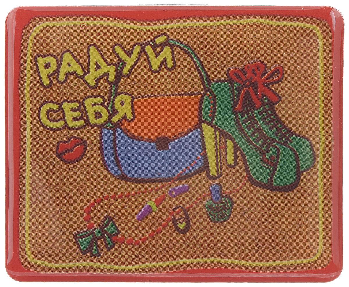 Магнит Феникс-презент Радуй себя, 4,5 x 5,5 см27176Магнит прямоугольной формы Феникс-презент Радуй себя, выполненный из агломерированного феррита, станет приятным штрихом в повседневной жизни. Оригинальный магнит, декорированный изображением сумки, обуви и других женских аксессуаров, поможет вам украсить не только холодильник, но и любую другую магнитную поверхность. Материал: агломерированный феррит.