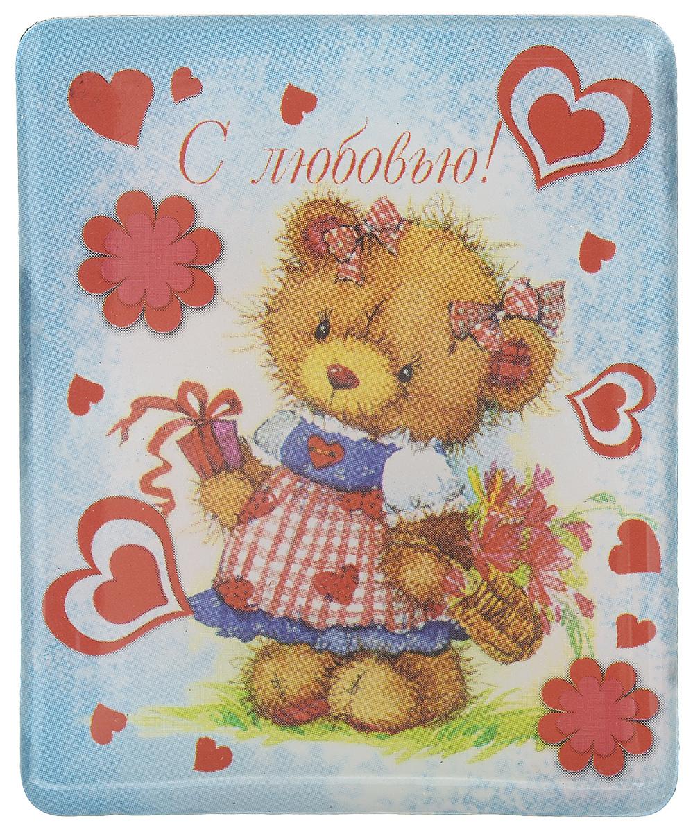 Магнит Феникс-презент Мишка, 4,5 x 5,5 см20750Магнит прямоугольной формы Феникс-презент Мишка, выполненный из агломерированного феррита, станет приятным штрихом в повседневной жизни. Оригинальный магнит, декорированный изображением влюбленной медведицы, поможет вам украсить не только холодильник, но и любую другую магнитную поверхность. Материал: агломерированный феррит.