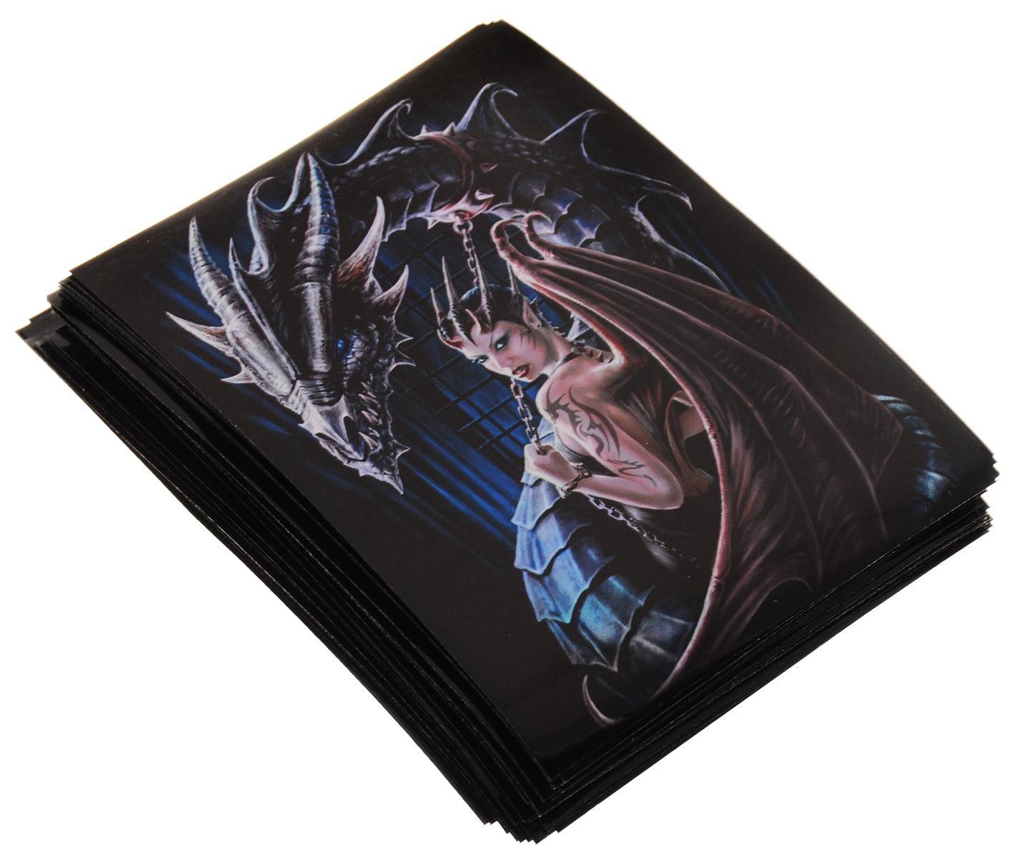Max Protection Протекторы для игральных карт Девушка-дракон 50 штZS707644Протекторы Max Protection Девушка-дракон подходят для большинства карточных настольных игр: Покемон, Magic the Gathering (МТГ), Эволюции, Зельеварения, Плоского мира и многих других. Выполнены из высококачественных прочных и безопасных для здоровья материалов, которые не содержат кислот и ПВХ, хорошо перемешиваются, не бликуют, для долгого использования, защищает карты от cгибов и царапин. В набор входит 50 красивых протекторов.