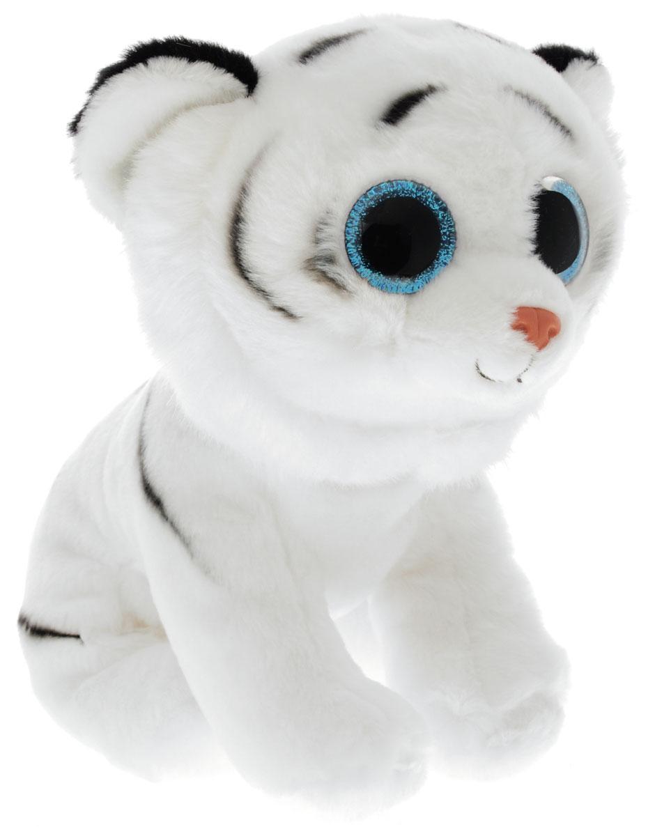 TY Мягкая игрушка Тигренок Tundra цвет белый 20 см90219Мягкая игрушка Тигренок TY Tundra не оставит вас равнодушным и вызовет улыбку у каждого, кто ее увидит. Игрушка изготовлена из безопасных, приятных на ощупь материалов в виде милого тигренка с большими глазами. Глазки и нос игрушки выполнены из пластика. Пластиковые гранулы, используемые при набивке игрушки, способствуют развитию мелкой моторики рук ребенка. Симпатичная игрушка будет радовать вашего ребенка, а также способствовать полноценному и гармоничному развитию его личности.