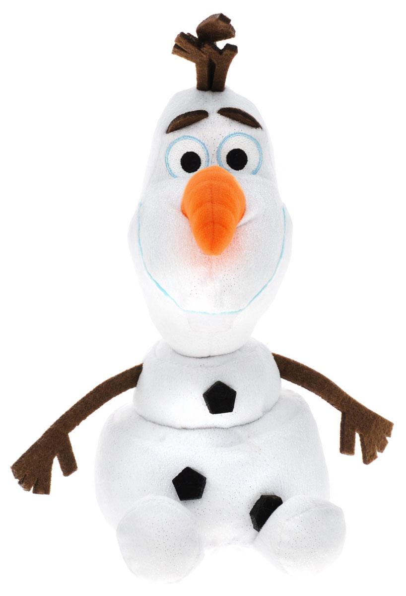 TY Мягкая озвученная игрушка Olaf цвет белый 33 см90152Мягкая озвученная игрушка TY Olaf выполнена в виде снеговика Олафа - персонажа мультфильма Холодное сердце. Игрушка изготовлена из высококачественного текстильного материала. Глазки вышиты нитками. Специальные гранулы, используемые при ее набивке, способствуют развитию мелкой моторики рук малыша. При нажатии на нижнюю часть игрушки воспроизводятся веселые звуки, издаваемые персонажем в мультфильме. Созданный когда-то волшебными чарами Эльзы, Олаф - самый дружелюбный и жизнерадостный снеговик на свете. Наивный и никогда не унывающий Олаф все время попадает в забавные ситуации, а от любопытства его буквально разрывает на части. У Олафа есть заветная мечта - встретить лето. Этот забавный снеговик обязательно придется по душе своему поклоннику. Порадуйте своего ребенка таким замечательным подарком.