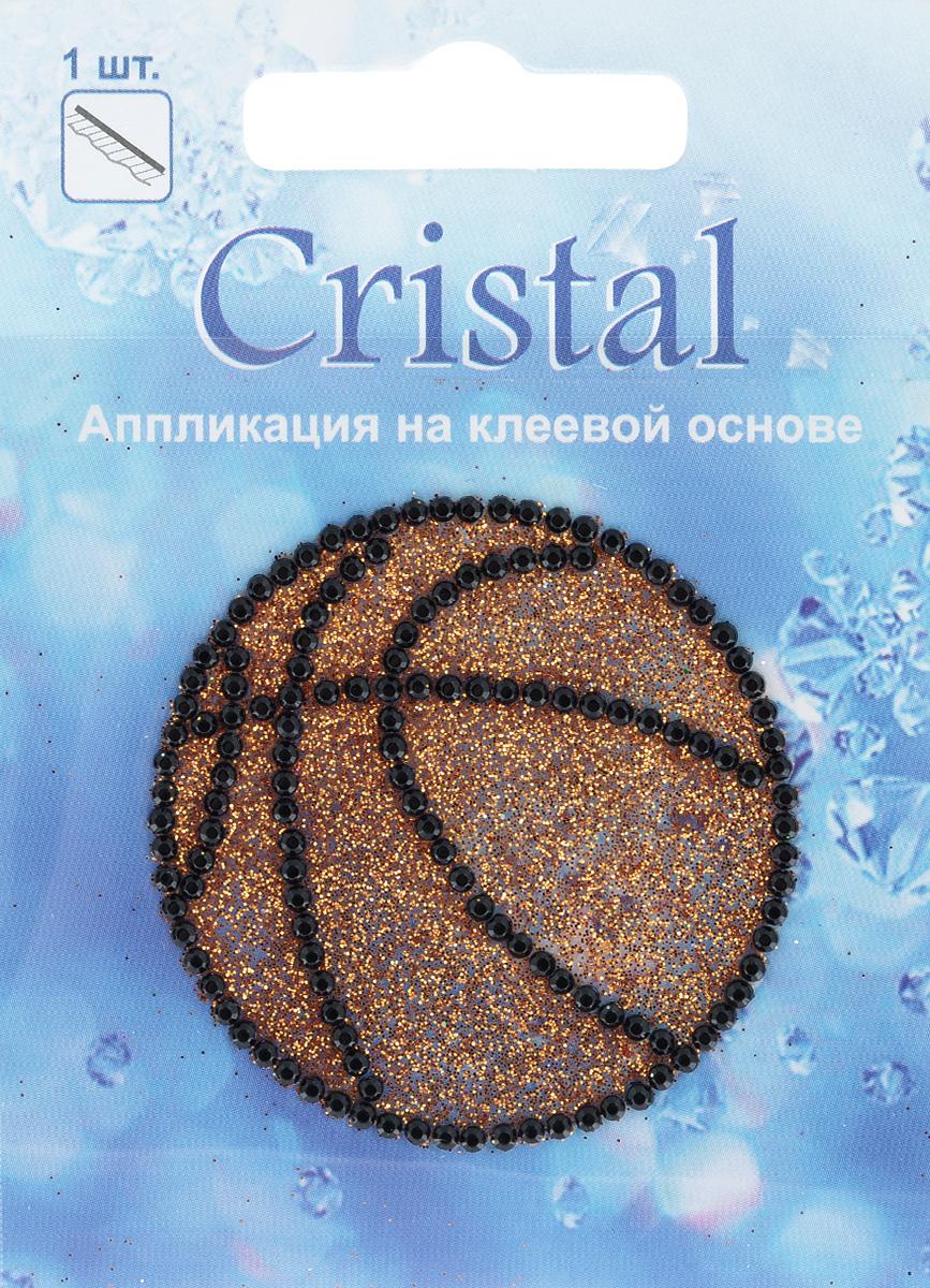 Аппликация на клеевой основе Cristal Мяч, диаметр 4,7 см7712062Аппликация на клеевой основе Cristal Мяч изготовлена из высококачественного акрила. Изделие, выполненное в виде баскетбольного мяча, украшенного стразами и блестками, позволит вам украсить одежду, аксессуары или текстиль. Аппликация с оборотной стороны оснащена клейкой поверхностью. Достаточно приложить аппликацию к ткани и сильно надавить. Украшение из страз Cristal поможет сделать любую вещь оригинальной и неповторимой. Диаметр наклейки: 4,7 см.