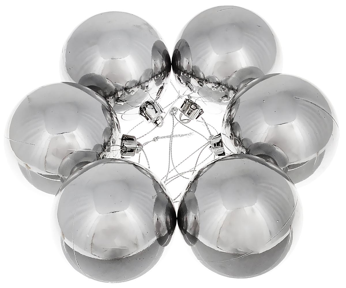 Набор новогодних подвесных украшений Lunten Ranta Классика, цвет: серебристый, диаметр 6 см, 6 шт65324Набор новогодних подвесных украшений Lunten Ranta Классика прекрасно подойдет для праздничного декора ели. Набор состоит из 6 пластиковых украшений в виде глянцевых шаров. Для удобного размещения на елке для каждого украшения предусмотрена петелька. Елочная игрушка - символ Нового года. Она несет в себе волшебство и красоту праздника. Создайте в своем доме атмосферу веселья и радости, украшая новогоднюю елку нарядными игрушками, которые будут из года в год накапливать теплоту воспоминаний. Откройте для себя удивительный мир сказок и грез. Почувствуйте волшебные минуты ожидания праздника, создайте новогоднее настроение вашим дорогим и близким.