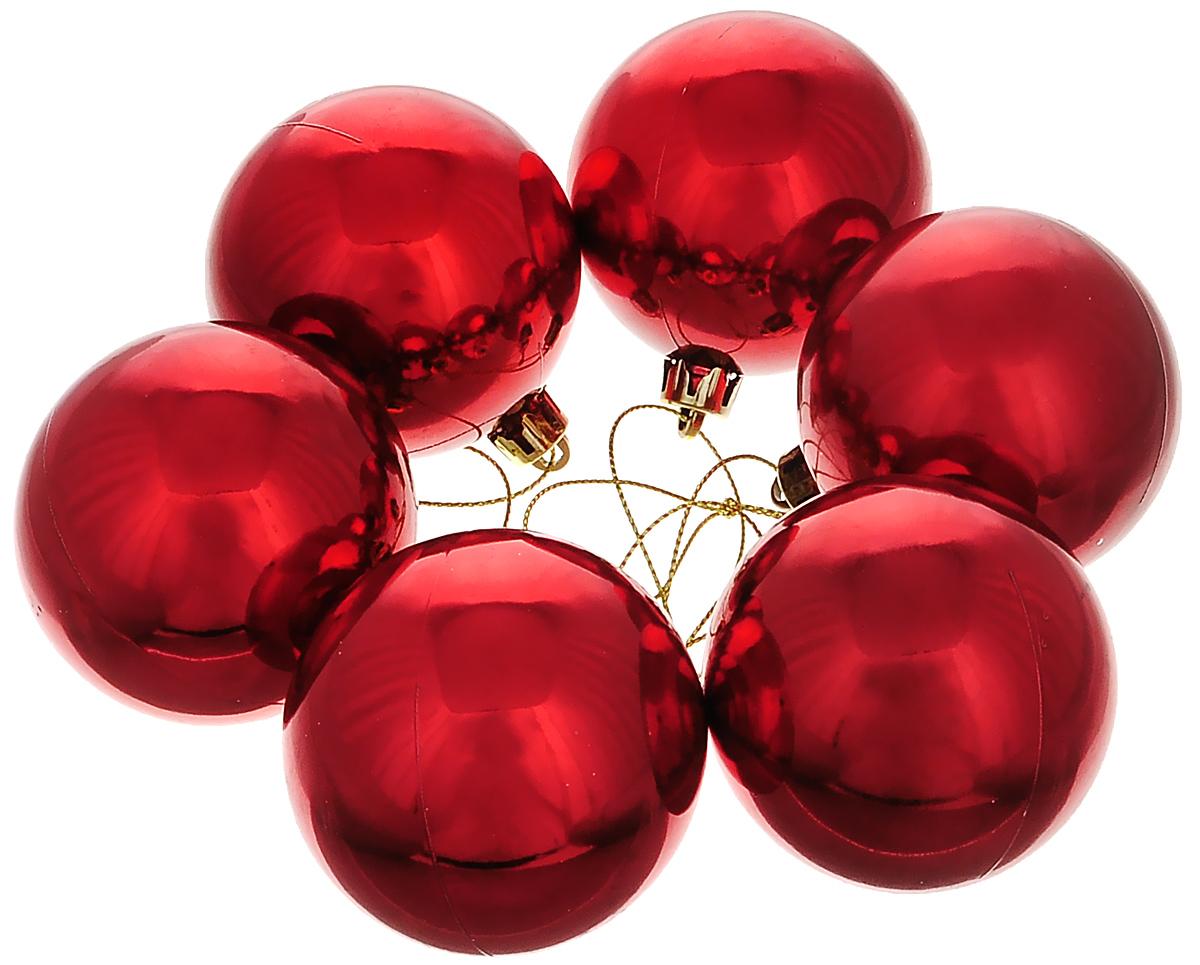 Набор новогодних подвесных украшений Lunten Ranta Классика, цвет: красный, диаметр 6 см, 6 шт65322Набор новогодних подвесных украшений Lunten Ranta Классика прекрасно подойдет для праздничного декора ели. Набор состоит из 6 пластиковых украшений в виде глянцевых шаров. Для удобного размещения на елке для каждого украшения предусмотрена петелька. Елочная игрушка - символ Нового года. Она несет в себе волшебство и красоту праздника. Создайте в своем доме атмосферу веселья и радости, украшая новогоднюю елку нарядными игрушками, которые будут из года в год накапливать теплоту воспоминаний. Откройте для себя удивительный мир сказок и грез. Почувствуйте волшебные минуты ожидания праздника, создайте новогоднее настроение вашим дорогим и близким.