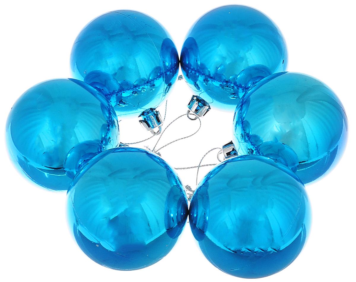 Набор новогодних подвесных украшений Lunten Ranta Классика, цвет: синий, диаметр 6 см, 6 шт65323Набор новогодних подвесных украшений Lunten Ranta Классика прекрасно подойдет для праздничного декора ели. Набор состоит из 6 пластиковых украшений в виде глянцевых шаров. Для удобного размещения на елке для каждого украшения предусмотрена петелька. Елочная игрушка - символ Нового года. Она несет в себе волшебство и красоту праздника. Создайте в своем доме атмосферу веселья и радости, украшая новогоднюю елку нарядными игрушками, которые будут из года в год накапливать теплоту воспоминаний. Откройте для себя удивительный мир сказок и грез. Почувствуйте волшебные минуты ожидания праздника, создайте новогоднее настроение вашим дорогим и близким.