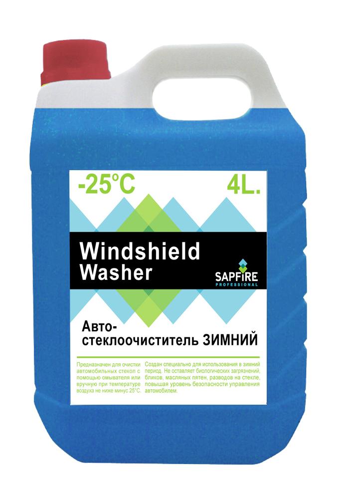 Стеклоомывающая жидкость SAPFIRE SKP-1425 Windshield Washer -25°С 4л (ПНД)SKP-1425Незамерзающая жидкость для стеклоомывателя автомобиля. Рассчитана на применение при внешней температуре до -25 °С. Предназначен для очистки автомобильных стекол с помощью омывателя или вручную. Создан специально для использования в зимний период. Не оставляет биологических загрязнений, бликов, масляных пятен, разводов на стекле. Повышает уровень безопасности управления автомобилем.