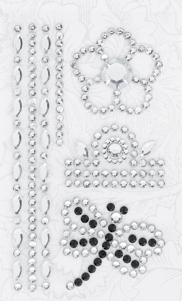 Наклейки декоративные Астра, цвет: черный, серебристый (5), 7 шт7705721_5Декоративные наклейки Астра изготовлены из высококачественного акрила, представленные в виде цветка, стрекозы и орнамента. Изделия оснащены задней клейкой стороной. Такие наклейки подойдут для оформления одежды, бытовой техники, открыток, интерьера многого другого. Декоративные наклейки помогут добавить оригинальности и эксклюзивности окружающих вас предметов и будут радовать глаз. Средний размер наклеек: 3,8 см х 3,4 см х 0,4 см.