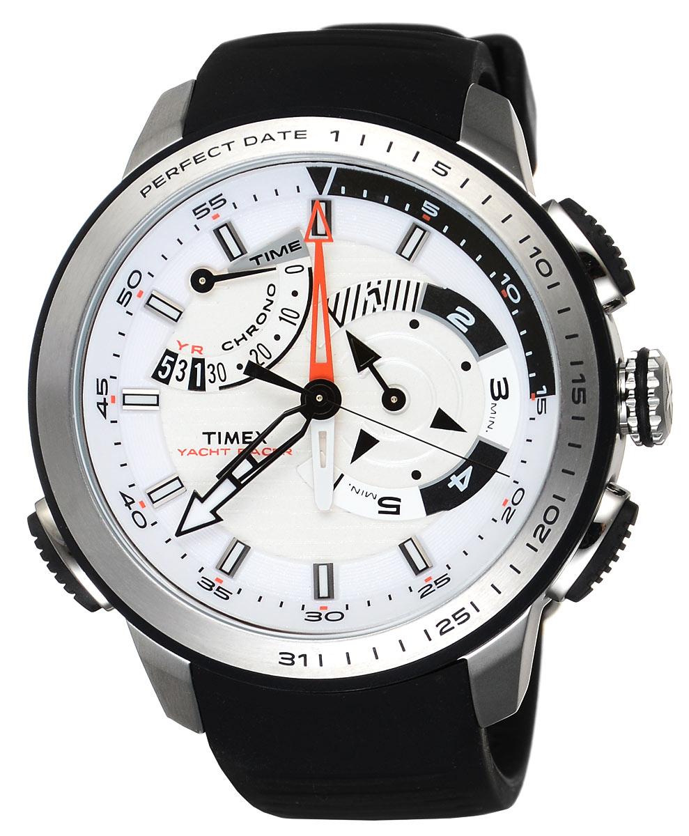 Часы мужские наручные Timex, цвет: черный, белый. TW2P44600TW2P44600Стильные мужские часы Timex выполнены из нержавеющей стали, каучука и минерального стекла. Корпус часов дополнен символикой бренда, а также оригинальным и практичным ремнем из каучука. Корпус изделия изготовлен из нержавеющей стали и имеет степень влагозащиты равную 10 atm. Часы оснащены многофункциональным механизмом и дополнительными функциями, такими как хронограф, яхт-таймер. Ремень изделия дополнен практичной застежкой-пряжкой, которая позволит моментально снимать и одевать часы без лишних усилий. Изделие поставляется в фирменной упаковке. Часы Timex подчеркнут мужской характер и отменное чувство стиля у их обладателя.