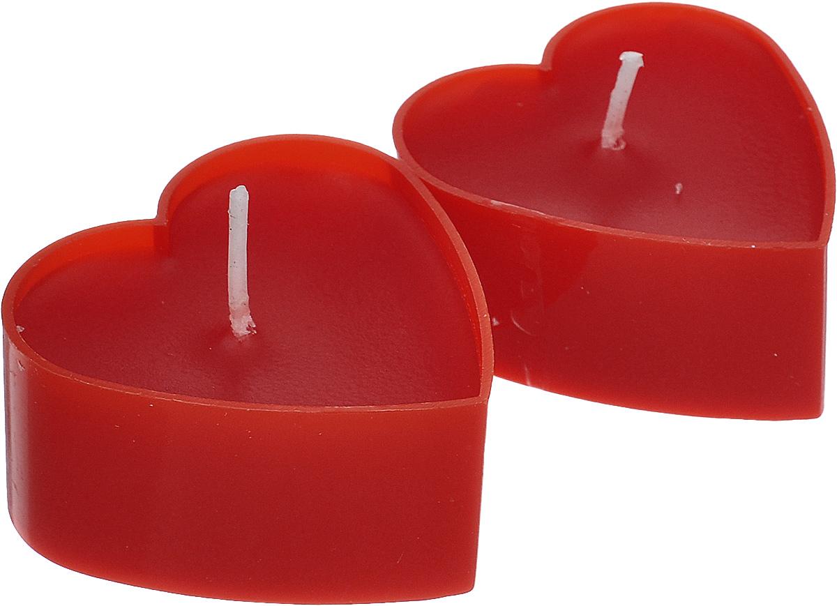 Набор декоративных свечей Lunten Ranta Горячее сердце, цвет: красный, 4 х 4 см, 2 шт67758_2Набор Lunten Ranta Горячее сердце состоит из 2 декоративных свечей, изготовленных из парафина в пластиковых основах. Свечи в виде сердец украсят интерьер вашего дома или офиса и наполнят его атмосферу теплом и уютом. Размер свечи (по верхнему краю): 4 см х 4 см.