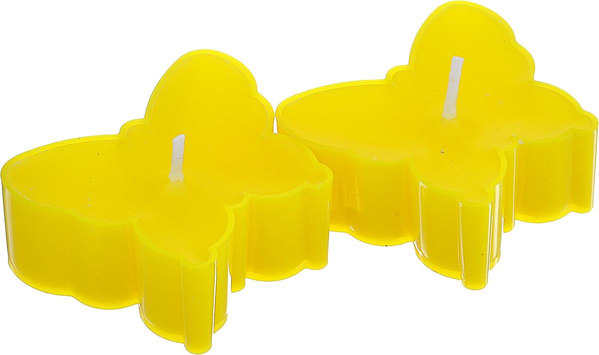 Набор декоративных свечей Lunten Ranta Бабочки, цвет: желтый, 5 х 4,5 см, 2 шт67756_2Набор Lunten Ranta Бабочки состоит из 2 декоративных свечей, изготовленных из парафина в пластиковых основах. Свечи в виде бабочек украсят интерьер вашего дома или офиса и наполнят его атмосферу теплом и уютом. Размер свечи (по верхнему краю): 5 см х 4,5 см.