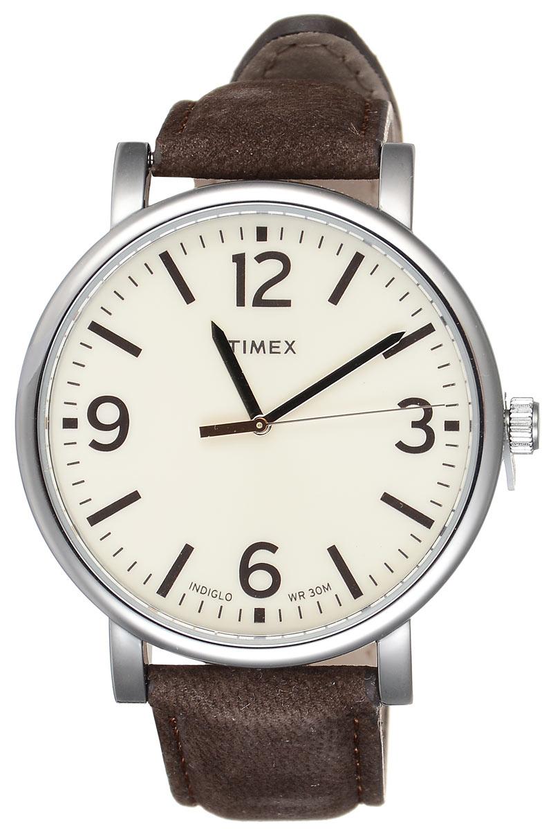 Часы мужские наручные Timex, цвет: слоновая кость, коричневый. T2P526T2P526Стильные мужские часы Timex выполнены из нержавеющей стали, натуральной кожи и минерального стекла. Корпус часов дополнен символикой бренда. Корпус изделия изготовлен из нержавеющей стали и имеет степень влагозащиты равную 3 atm. Часы оснащены долговечным механизмом и дополнительной функцией подсветки циферблата INDIGLO. Ремень изделия дополнен практичной застежкой-пряжкой, которая позволит моментально снимать и одевать часы без лишних усилий. Изделие поставляется в фирменной упаковке. Часы Timex подчеркнут мужской характер и отменное чувство стиля у их обладателя.